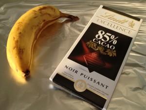 Banaan met pure chocolade